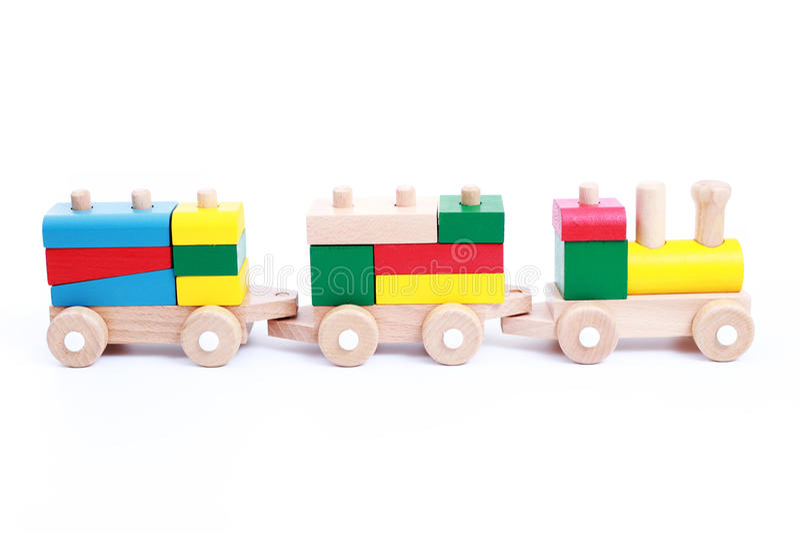 Treno di legno fotografie stock libere da diritti
