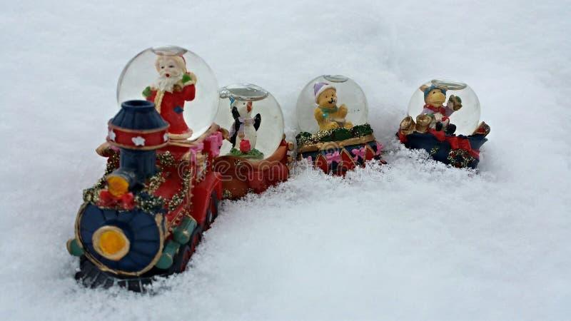 Treno di Natale fotografia stock libera da diritti