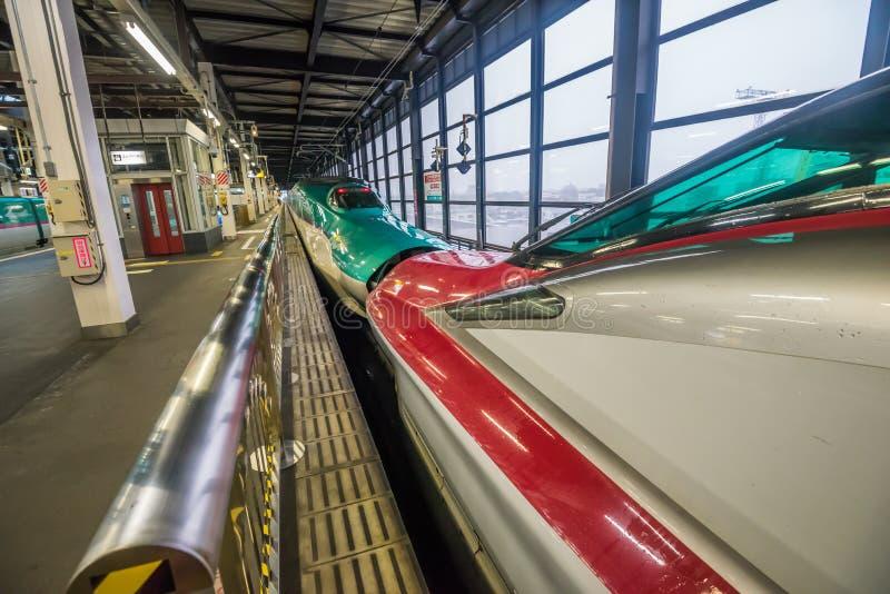 Treno di pallottola ad alta velocità di Tohoku Shinkansen fotografie stock libere da diritti