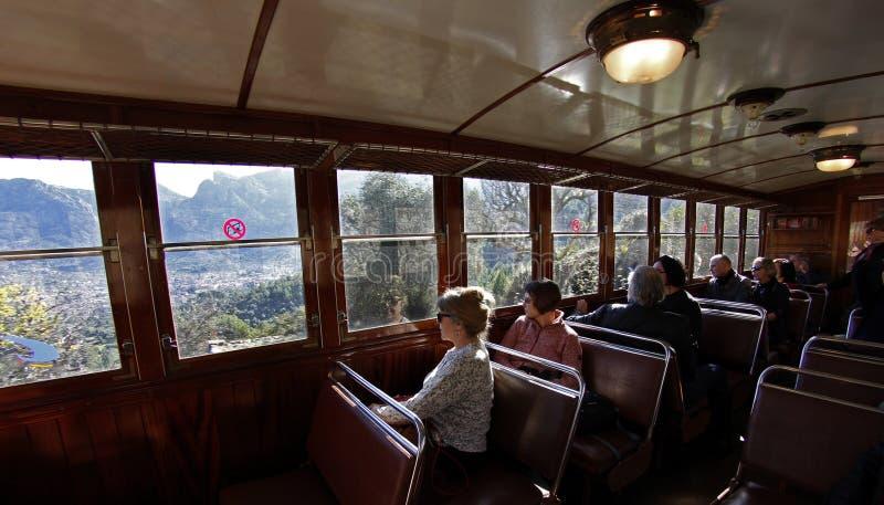 Treno di Soller fotografia stock