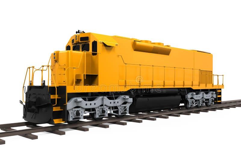 Treno di trasporto giallo illustrazione di stock