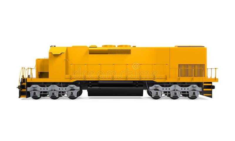 Treno di trasporto giallo royalty illustrazione gratis