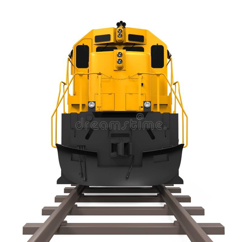 Treno di trasporto giallo illustrazione vettoriale