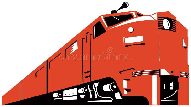 Treno diesel fotografia stock