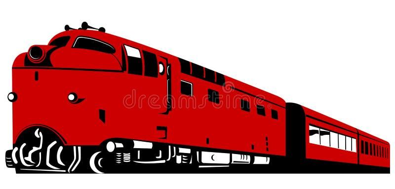 Treno diesel isolato su bianco fotografia stock
