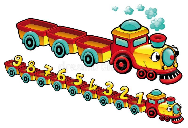 Treno divertente. illustrazione di stock