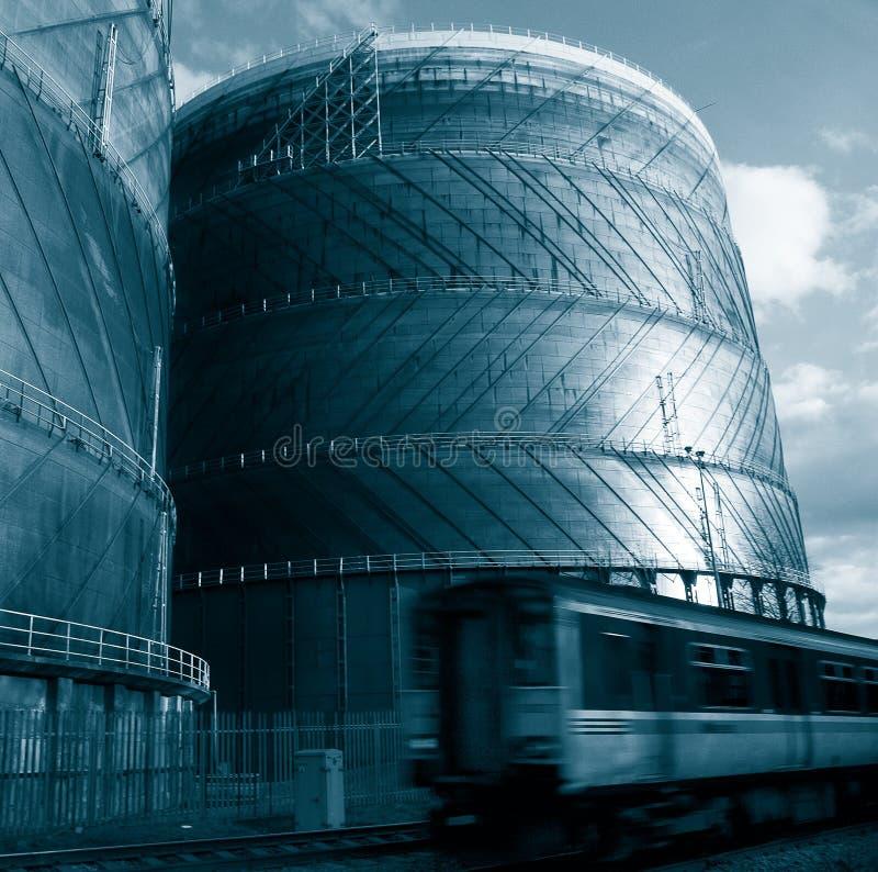 Treno e gas fotografia stock libera da diritti