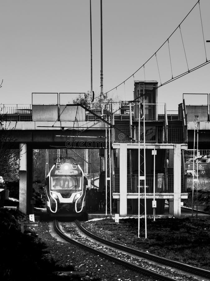 treno e trazione ferroviaria fotografia stock