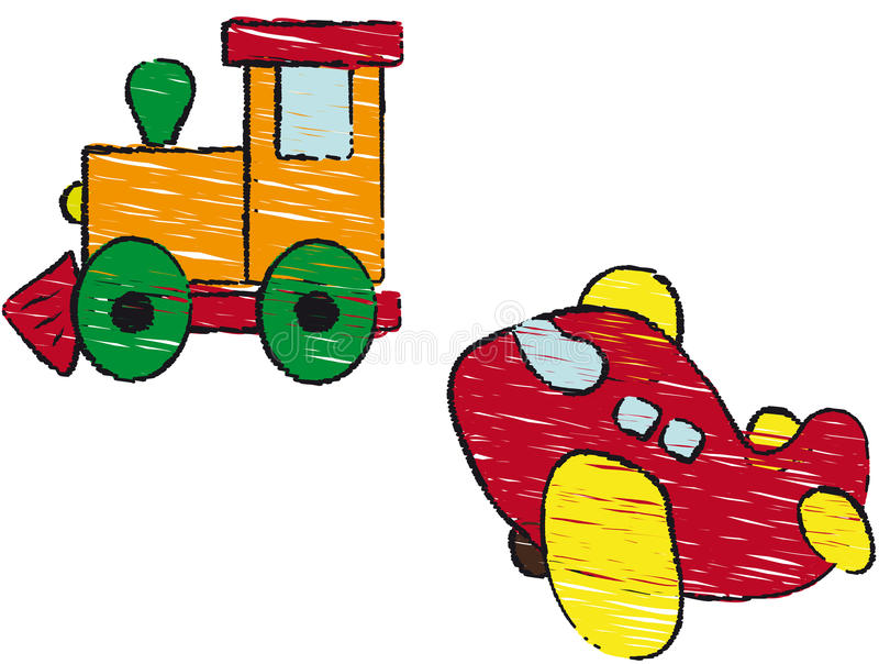 Treno ed aria royalty illustrazione gratis