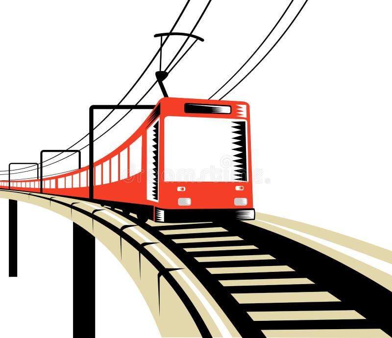 Treno elettrico fotografie stock libere da diritti