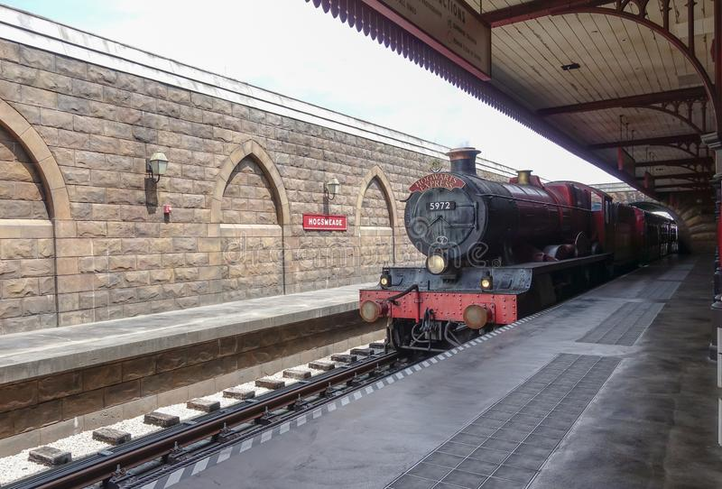 Treno espresso di Hogwarts ad Universal Studios fotografia stock
