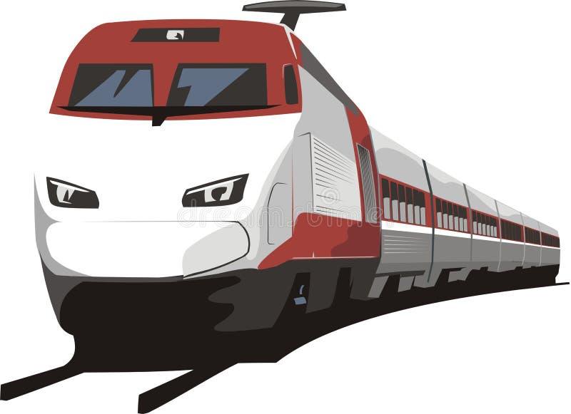 Treno ferroviario illustrazione di stock