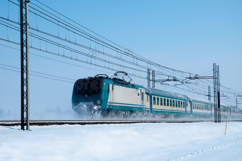 Treno Freddo Fotografia Stock Libera da Diritti