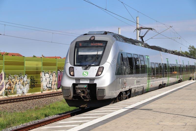 Treno locale di Lipsia fotografie stock libere da diritti