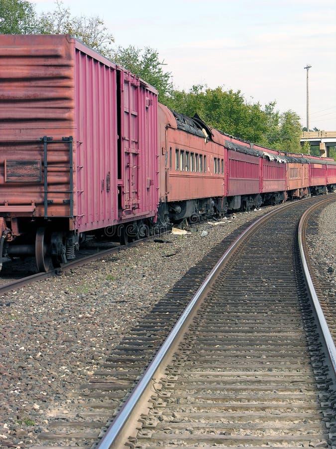 Treno lungo Runnin fotografie stock libere da diritti