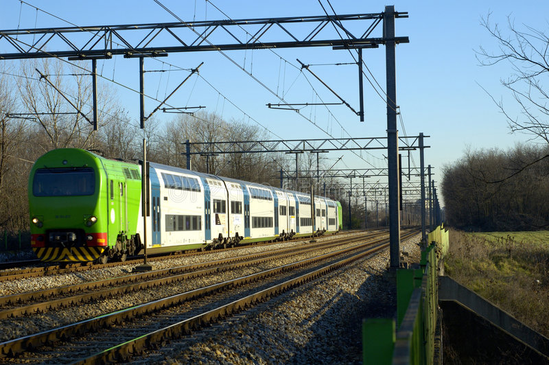 Treno Moderno Fotografia Stock Libera da Diritti