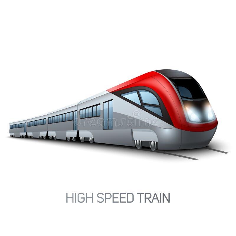 Treno moderno ad alta velocità illustrazione vettoriale