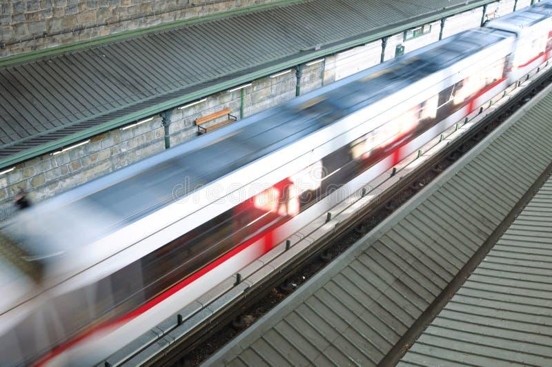Treno moderno di velocità fotografie stock libere da diritti
