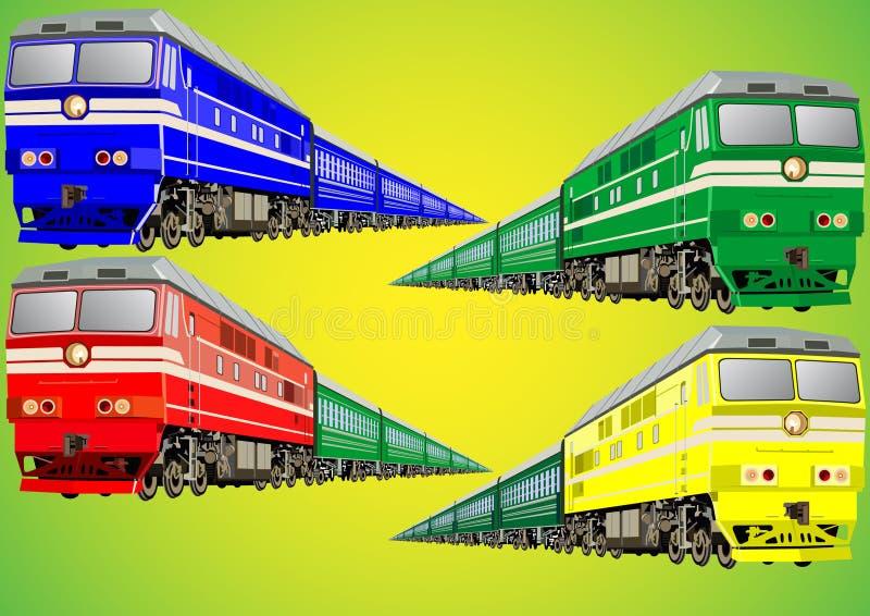 Treno Multi-colored fotografia stock libera da diritti