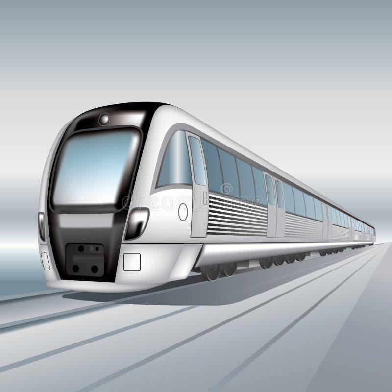 Treno passeggeri illustrazione di stock