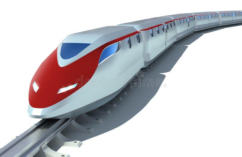 Treno passeggeri ad alta velocità illustrazione di stock