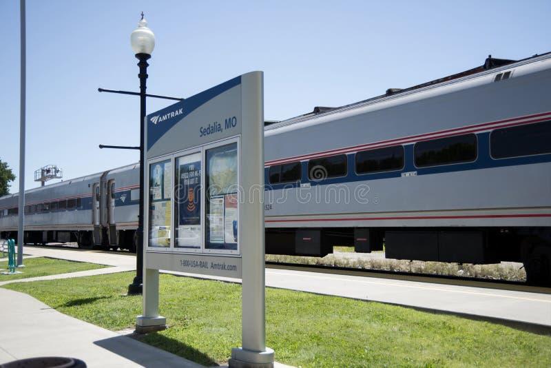 Treno passeggeri dell'Amtrak fotografie stock libere da diritti