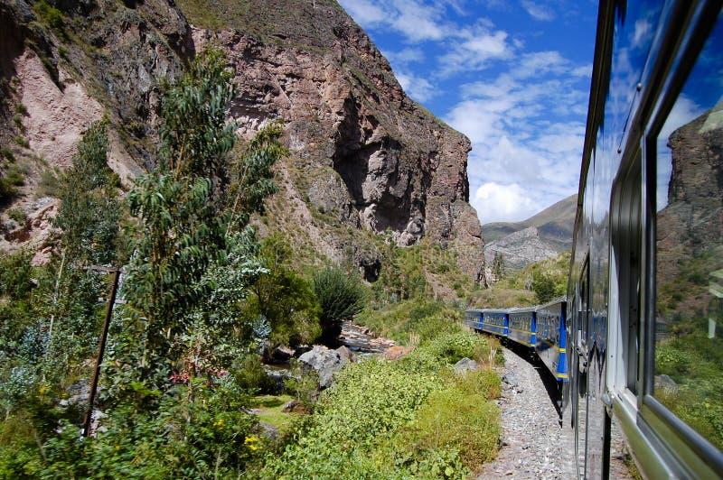 Treno - Perù immagini stock libere da diritti
