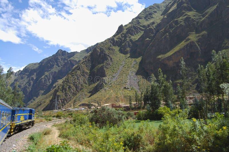 Treno - Perù fotografia stock libera da diritti