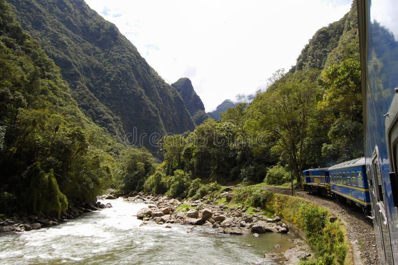 Treno - Perù immagini stock