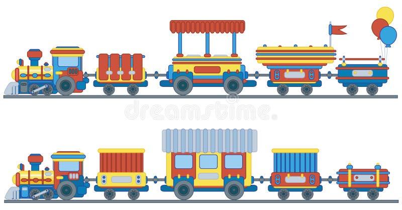 Treno per il disegno dei bambini. royalty illustrazione gratis