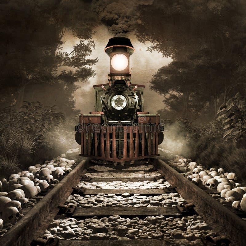 Treno spaventoso royalty illustrazione gratis