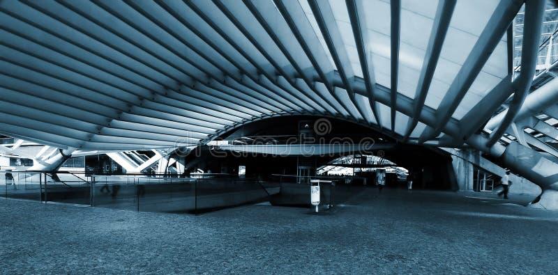 Treno/stazione di metro moderni fotografie stock libere da diritti