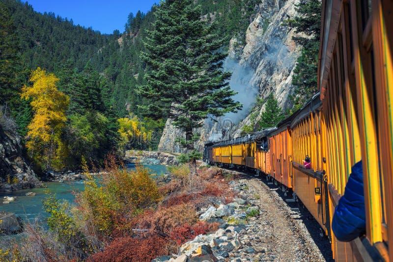Treno storico del motore a vapore in Colorado, U.S.A. fotografia stock