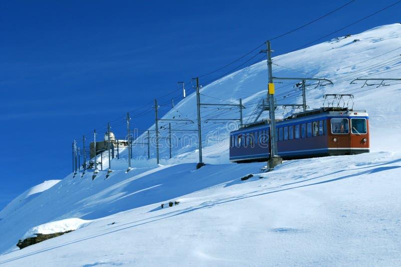Treno in Svizzera fotografia stock libera da diritti