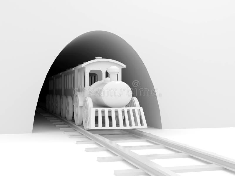 Treno in traforo illustrazione di stock