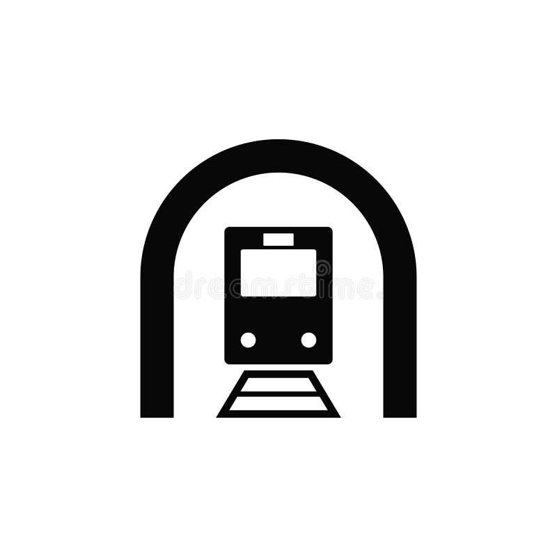 Treno, tunnel, icona Elemento dell'icona semplice per i siti Web, web design, app mobile, infographics Linea spessa icona per pro illustrazione vettoriale