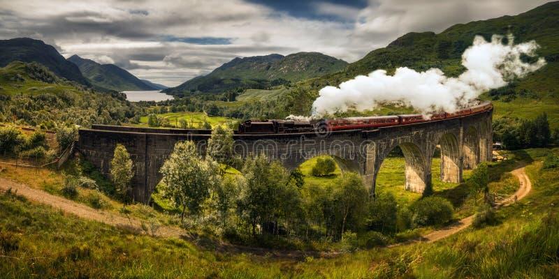Treno a vapore Jacobite fotografia stock