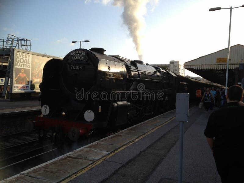 Treno a vapore Oliver Cromwell fotografie stock