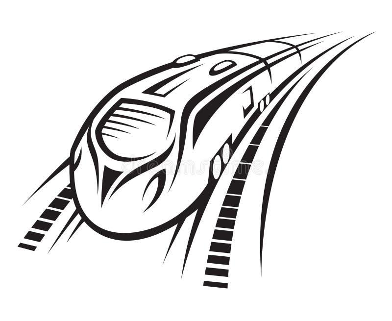 Treno veloce royalty illustrazione gratis