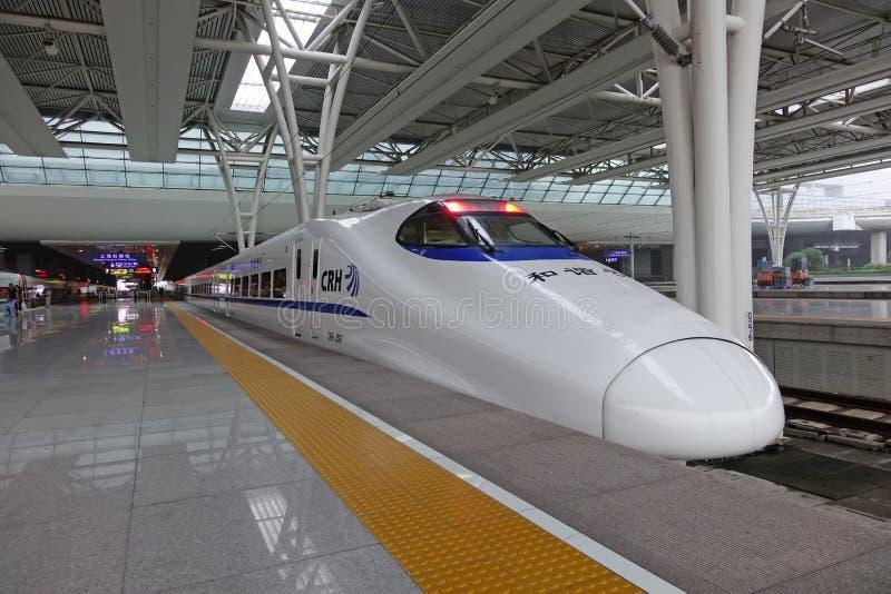 Treno veloce cinese di CRH fotografia stock libera da diritti