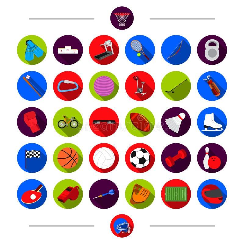 Trenować, atrybuty, sport i inna sieci ikona w kreskówce, projektujemy Zamiast, nagroda, rywalizacja, ikony w ustalonej kolekci ilustracja wektor