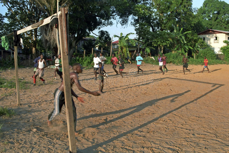 Trenować futbolu klub w Surinam fotografia stock