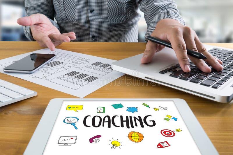 TRENOWAĆ Stażowego planowania uczenie trenowania przewdonika Biznesowego Ins ilustracja wektor
