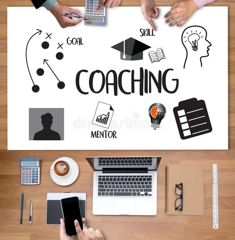 TRENOWAĆ Stażowego planowania uczenie trenowania przewdonika Biznesowego Ins ilustracji
