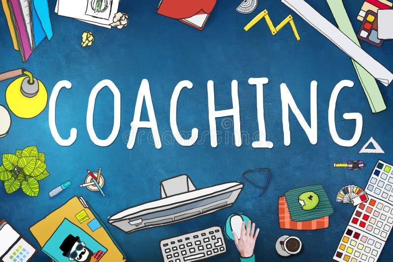Trenowanie mentora nauczania trenera Stażowy pojęcie royalty ilustracja