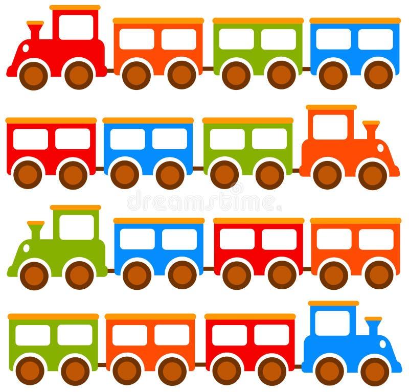 Trens do brinquedo ilustração do vetor