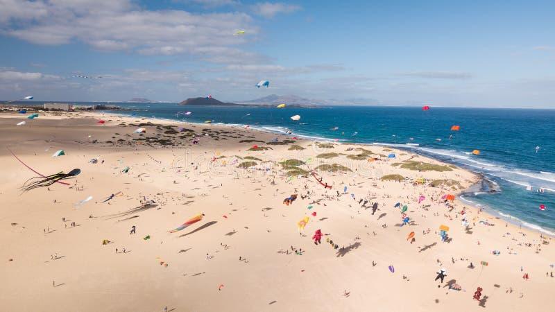 Trente et unième festival international de cerf-volant, Fuerteventura 2018-11- photos stock