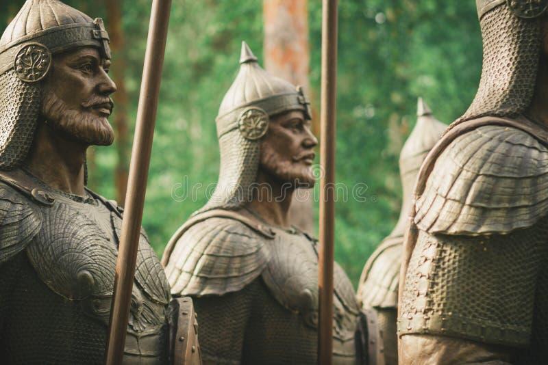 Trente-trois héros d'un conte de fées image stock
