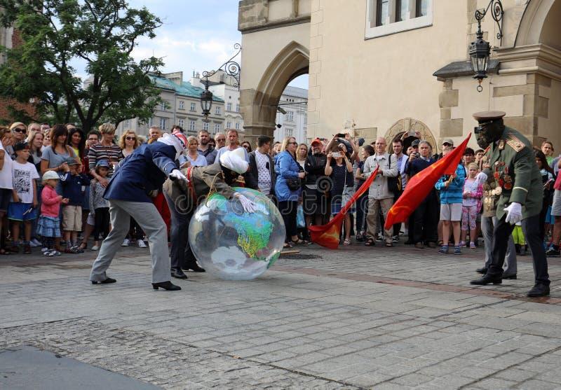 trentesima via - festival internazionale dei teatri della via a Cracovia, Polonia immagine stock libera da diritti