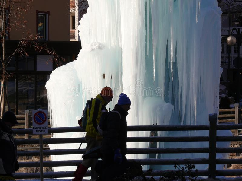 Trentino, Italie 01/06/2011 Fontaine glac?e photos libres de droits